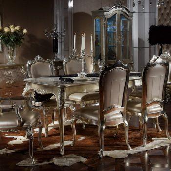 YM-B2050a-3 LONG DINING TABLE SET 1.8m